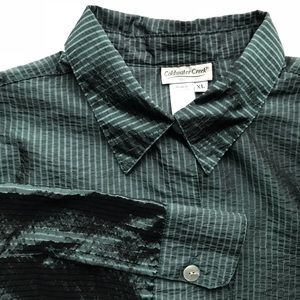 Coldwater Creek Green Shimmer Blouse XL